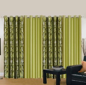 Cloud India 9 ft Long Door Supremo Curtains Set Of 4 Piece Polyster Living Room  Bed Room Curtains With Attractive Color