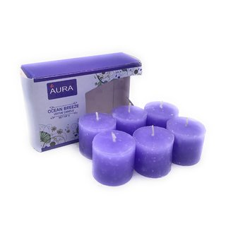 AuraDecor Set of 6 Sea Breeze Fragrance Votive Candle
