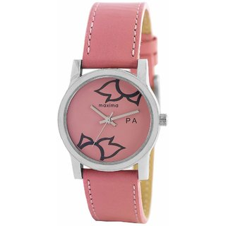 Maxima Attivo Steel Analog Pink Dial Womens Watch - 23346LMLI