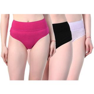 SK Dreams Multi Color Cotton Set of 3 Women's Panty Combo