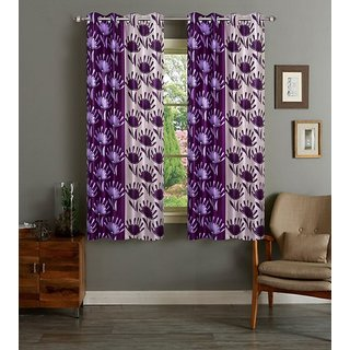 Cloud India 5 Ft Window Supremo Curtains Set Of 2 Piece Polyster Living Room  Bed Room Curtains  With Attractive Color