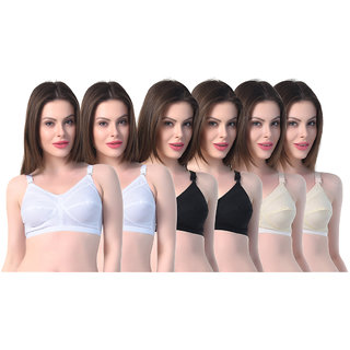 c42f11035e5 Buy SK Dreams Multi Color Cotton Set of 6 Women s Bra Combo Online ...