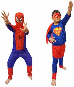 Kaku Fancy Dresses Combo Super Hero Costume,CosPlay Costume,CaliFor Kidsnia Costume For Kids School Annual function/Theme Party/Competition/Stage Shows/Birthday Party Dress (2 Pieces )