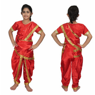 444d1a807 Buy Kaku Fancy Dresses Marathi Girl Indian State Traditional Wear ...