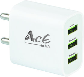 AcE(2.1AMP+1AMP) 3USB Ultra fast charging for OPPO (ACE-2109)