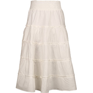 Tiddlywings Girl's frilly long skirt with gathers,panels and delicate smocking.