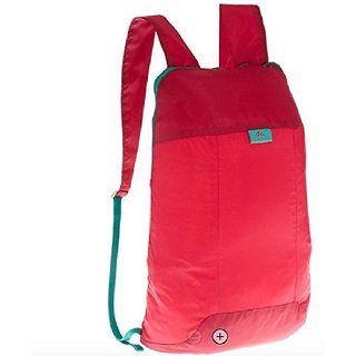 Quechua Backpack red raspberry 10 Liters Ultra-Compact for people looking for an extra backpack ultra light (1.7oz)