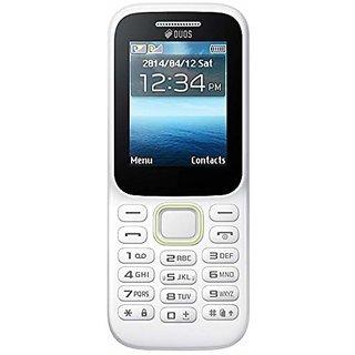 CallBar Bold 310 ( Dual Sim, 1.8 Inch Display, Multimedia Phone, 1050 Mah Battery, White Color )
