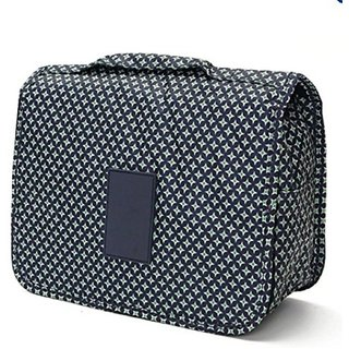 527def7a1d Buy House of Quirk Portable Toiletry Bag Make Up Storage Pouch Travel  Organizer With Large Capacity (Blue Star) Travel Toiletry Kit Online - Get  69% Off