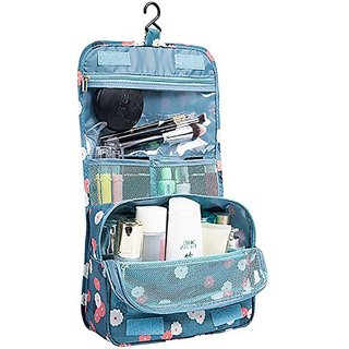 730064c8d2 Buy House of Quirk Portable Toiletry Bag Make Up Storage Pouch Travel  Organizer With Large Capacity (Floral Blue) Travel Toiletry Kit(Blue)  Online - Get 70% ...