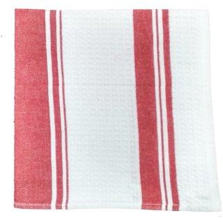 Lakshmi Trader Centre Swipe Kitchen Towel (Pack of 5  Size 4565CM Red)