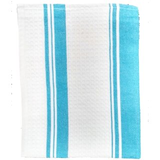 Lakshmi Trader Centre Swipe Kitchen Towel (Pack of 5  Size 4565CM Blue)
