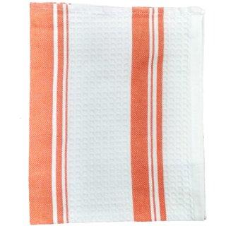 Lakshmi Trader Centre Swipe Kitchen Towel (Pack of 5  Size 4565CM Orange)