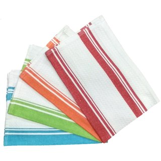 Lakshmi Trader Centre Swipe Kitchen Towel (Pack of 5  Size 4565CM Multicolor)