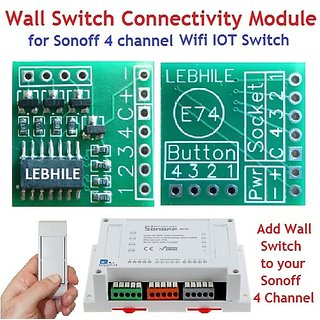 E74 Wall Switch Connectivity Module for Sonoff 4 Ch Channel Wifi IOT Switch..