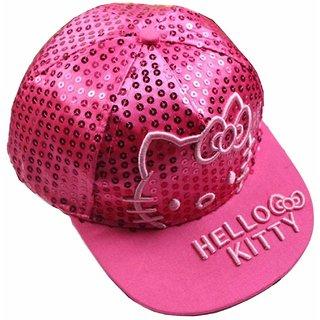 504190f2938 Buy Drunken Kid s Pink Adjustable Snapback Cotton Cap Online - Get ...