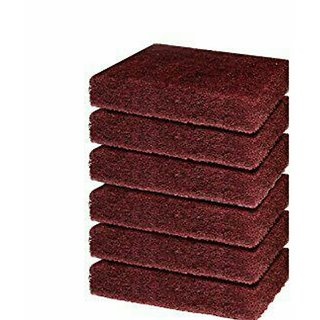 scrub pad super tough for vessels hard cleaning, set of 6, so hard scrubber