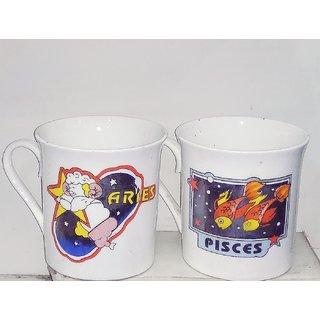 Milk Mugs (coffee mugs), set of 2 pcs, zodiac sign theme