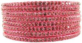 Sukriti Rajasthani Traditional Pink Lac Bangles for Women - Set of 8