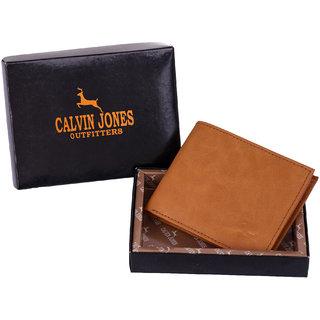 CalvinJones Men's Tangerine Leather Wallet