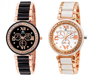 Adamo Shine Analog Multi-Colour Dial Women's Watch - A806KM0102