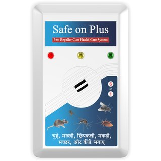 Prime Marketing Safe on Plus Ultrasonic Pest Repellent Device For Rodents,  Ants, Rats, Cockroaches - Electronic, Built-I