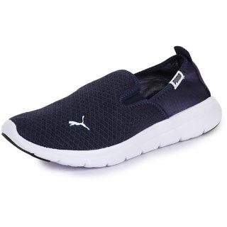 Puma Mens Navy Blue Flex Essential Slip On IDP Casual Shoes