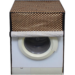 Glassiano Brown Color Dot Printed Washing Machine Cover For BOSCH WAX16160IN Front Loading 6 Kg