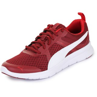 Puma Mens Maroon Flex Essential Running Shoes