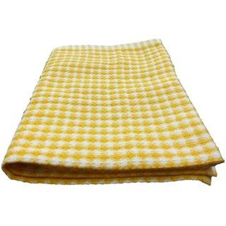 Lakshmi Trader Mini Honeycomb Kitchen Towel (Pack of 6  Size 4060CM Yellow)