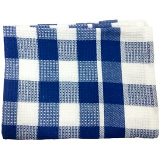 Lakshmi Trader Honeycomb with Drill Check Kitchen Towel (Pack of 5  Size 4570CM  Blue)