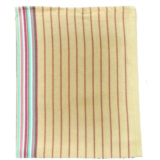 Lakshmi Trader Honeycomb With Center Border Kitchen Towel(Pack of 5  Size 5070CM Yellow)
