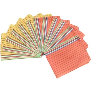 Lakshmi Trader Honeycomb With Center Border Kitchen Towel(Pack of 5  Size 5070CM Multicolor)