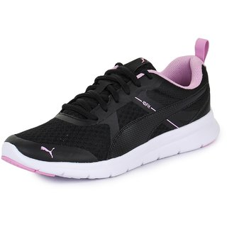 Puma Womens Black Flex Essential Running Shoes