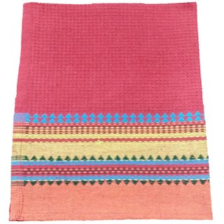 Lakshmi Trader HoneyComb With Dobby Border Kitchen Towel (Pack of 6  Size 4060CM Red)