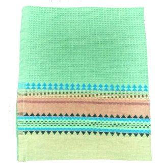 Lakshmi Trader HoneyComb With Dobby Border Kitchen Towel (Pack of 6  Size 4060CM Green)
