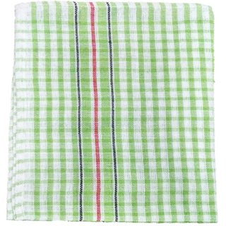 Lakshmi Trader Checked Cloth Kitchen Towel (Pack of 12  Size 3858CM Green)