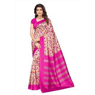 Active Womens Kalamkari Mysore Silk Printed Saree (Kalamkari S181047_Beige_Free Size)