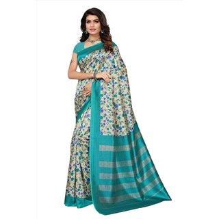 Active Womens Kalamkari Mysore Silk Printed Saree (Kalamkari S181046_Beige_Free Size)
