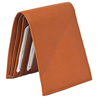 Sunshopping men's tan bifold synthetic leather wallet (wallet-tan)