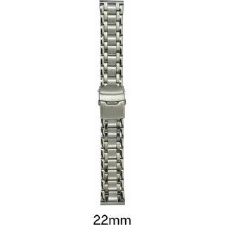 kolet  22 mm Stainless Steel Watch Strap (Silver)