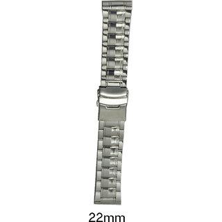 kolet  22 mm Stainless Steel Watch Strap (Silver)