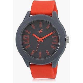 Fastrack Analog Orange Black Dial Mens Watch - 38003PP08