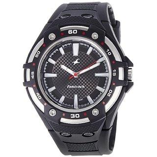 Fastrack New OTS Analog Black Dial Mens Watch - NE9332PP02