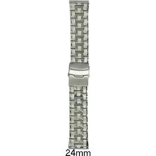 kolet  24 mm Stainless Steel Watch Strap (Silver)
