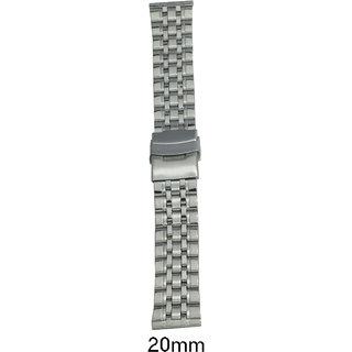 kolet  20 mm Stainless Steel silver Watch Strap