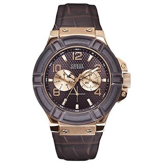 Guess Analog Brown Dial Mens Watch - W0040G3