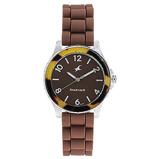 Fastrack Trendies Analog Brown Dial Womens Watch-68009PP08