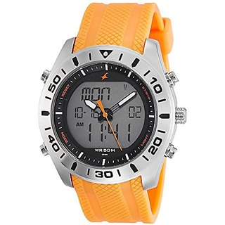 Fastrack Analog Orange Dial Mens Watch-38034SP01
