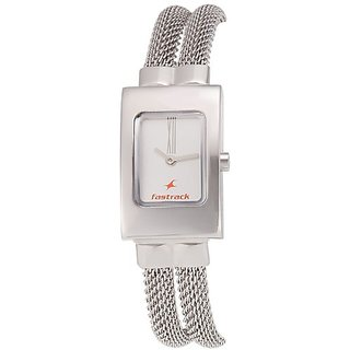 Fastrack Upgrade-Core Analog White Dial Womens Watch - NE2049SM09